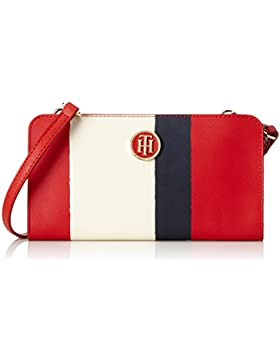 Tommy Hilfiger Damen Honey Purse / Crossover Umhängetasche, Weiß (Rwb Vertical Stripe), 2x12x21 cm