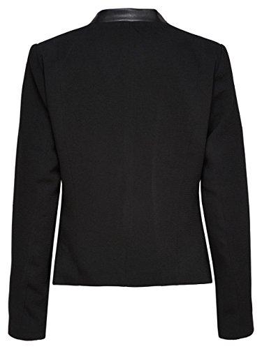 ONLY Damen Blazer Jacke CAMILLE BLAZER OTW Stoff Kunstleder schwarz Abbildung 2