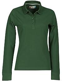 2d49a9075d4173 PAYPER Damen Langarm Polohemd Baumwoll Piquet Polo-Shirt Longsleeve Modell  Florence