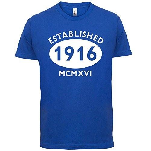 Gegründet 1916 Römische Ziffern - 101 Geburtstag - Herren T-Shirt - 13 Farben Royalblau