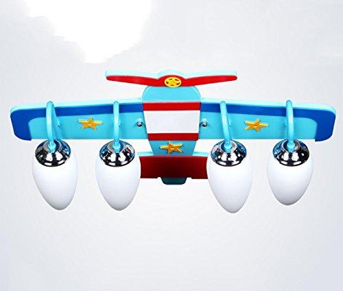 Flugzeug Hängeleuchte Kind Dekor Deckenleuchte Qualitäts hölzerner Vorstand Hochtemperatur beständiger Glaslampen Schatten nicht toxischer Ölfarbe 4pcs E14 Halter Vorstand Wasser
