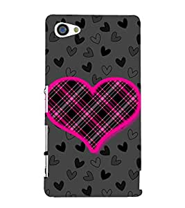 Net Love Heart 3D Hard Polycarbonate Designer Back Case Cover for Sony Xperia Z5 Compact :: Sony Xperia Z5 Mini