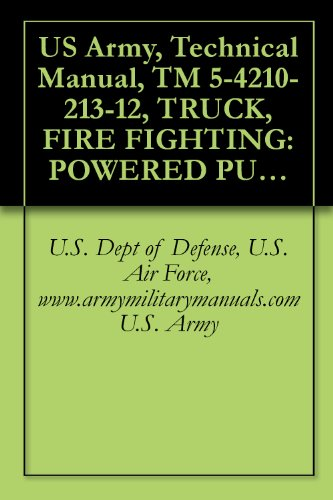 Air-powered Pump (US Army, Technical Manual, TM 5-4210-213-12, TRUCK, FIRE FIGHTING: POWERED PUMPER, FOAM AND WATER, 500 GALLONS PER MINUTE CAPACITY, CENTRIFUGAL PUMP, POWER ... military manuals (English Edition))