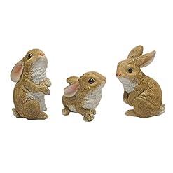 Design Toscano il coniglietto den, giardino coniglio statua – Set di 6