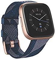 Fitbit Versa 2 Health & Fitness Smartwatch with Voice Control, Sleep Score & Music, One Size, SE Navy