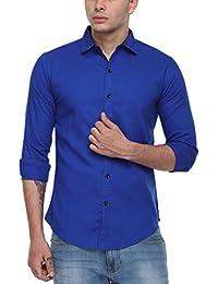 Cotton Tree Men's Casual Shirt_09_Blue_S