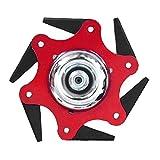 qigeran Balishion Spazzola Trimmer Fit Sostituzione Polycut Falciatura Testa Taglierina Universale per taglierina a 6 Lame Acciaio Accessori 65Mn Tagliaerba Attrezzo da Giardino (Rosso, Taglia Unica)