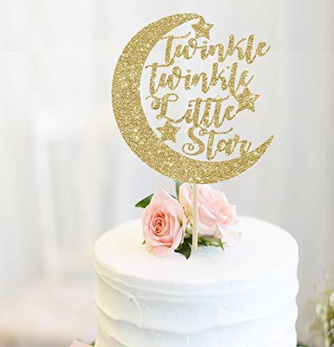 Twinkle Twinkle kleiner Stern Kuchen Topper Baby Dusche Dekoration Mond und Sterne Baby Dusche Dekor Mond Kuchen Topper Geschlecht offenbaren Party