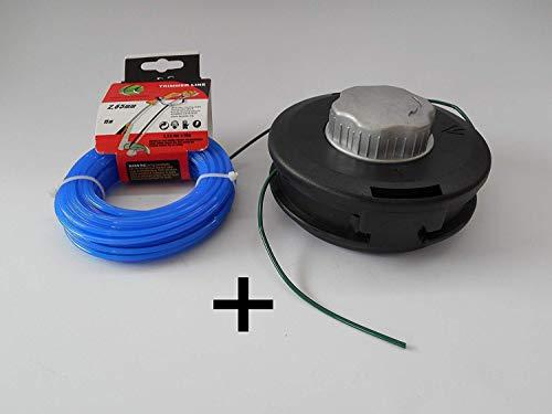 Automatic fil tête fils pour débroussailleuse + 15 m Fil pour coupe-bordure Débroussailleuse Recharger 2,65 mm avec grande précision haute puissance.