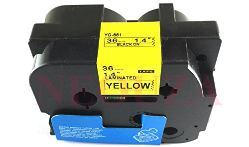 Compatible for Brother P-touch TZe Tz Black on Yellow label tape 6mm 9mm 12mm 18mm 24mm 36mm all size TZe-661 36mm Nero/giallo