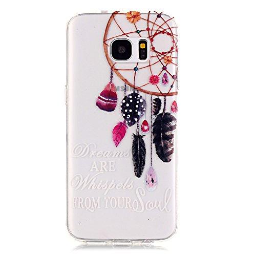 Sunroyal® Custodia per Samsung Galaxy S7 Edge G9350 SM-G935 Protettiva Cover Universale di Ultra Sottile TPU Morbido Antigraffio Trasparente Cristallo Chiaro e Shock-Absorption Bumper Case Posteriore  Modello 19