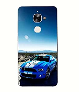 Snazzy Car Printed Multicolor Hard Back Cover For Letv Le Eco Le 2