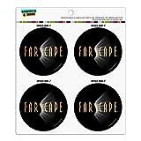 Farscape TV-Show-Logo auf schwarzem Kühlschrank-/Schließfach, Vinyl, Kreis-Magnet-Set