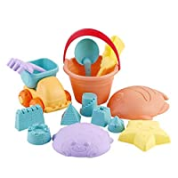 HANGESS Kids Soft Plastic Beach Toys Set Pool Toy Set for 1-2-6 Year Old Baby for Easy Cleaning and Storage