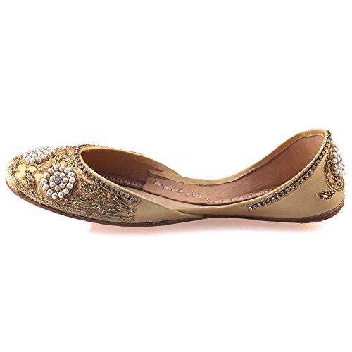 Unze Pumps Für Frauen Gracia 'Leder verschönert - LS-521 Gold