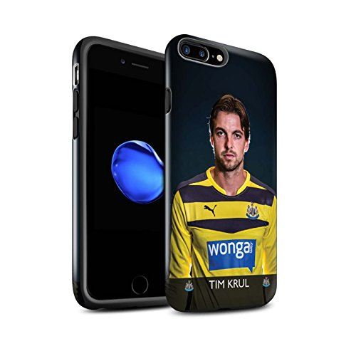 Offiziell Newcastle United FC Hülle / Glanz Harten Stoßfest Case für Apple iPhone 7 Plus / Rivière Muster / NUFC Fussballspieler 15/16 Kollektion Krul