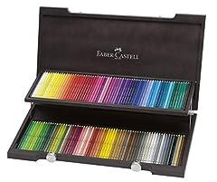 Idea Regalo - 120 set di colori Faber-Castell Albrecht Durer matite acquerello (caso scatola di legno) (japan import)
