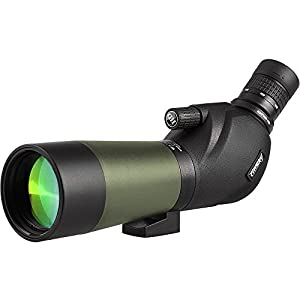 Gosky 20-60x60 Waterproof Spotting Scope -BAK4 Angled Spotting scope Bird Watching Target Shooting Archery Scenery Tripod Digiscoping Adapter - Get the World into Screen