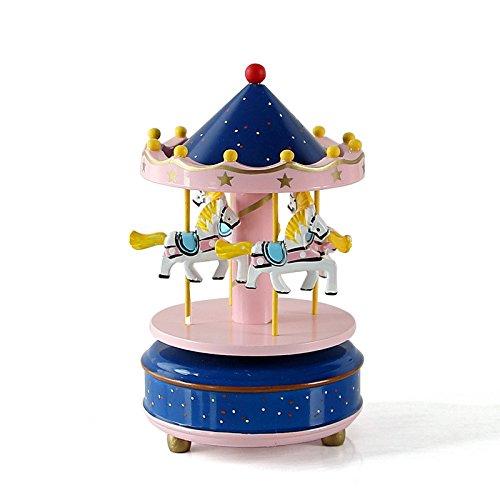 Zantec Holz 4Pferd Drehkarussell Figur Musik Box Kinder Geburtstag Weihnachten Geschenke - Halloween Pinterest Katzen