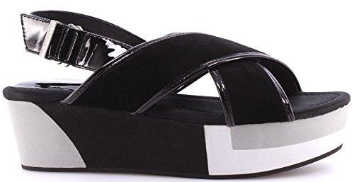Liu Jo Chaussure Sandales Femmes Shoes Sandals Wedge Myriam Black New Nouveau