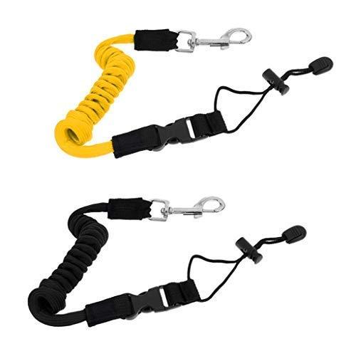 Descripción:    Cuerda de seguridad Kayak Canoe con cordón en espiral    Conecta la pala al kayak para evitar que la pala se salga del control.    Con hebilla de cobre, ayuda a conectar la correa con el kayak.    Buena resistencia a la abrasión, c...