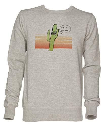 Cactus - Cactus Unisex Grau Jumper Sweatshirt Herren Damen Größe S | Unisex Jumper Sweatshirt for Men and Women Size S