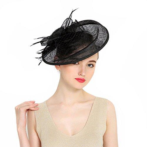plume fascinator chapeau. Black Bedroom Furniture Sets. Home Design Ideas