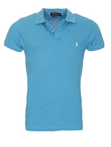 Ralph Lauren Poloshirt small pony, Custom Fit, verschiedene Farben NEU Hellblau weißes Pony