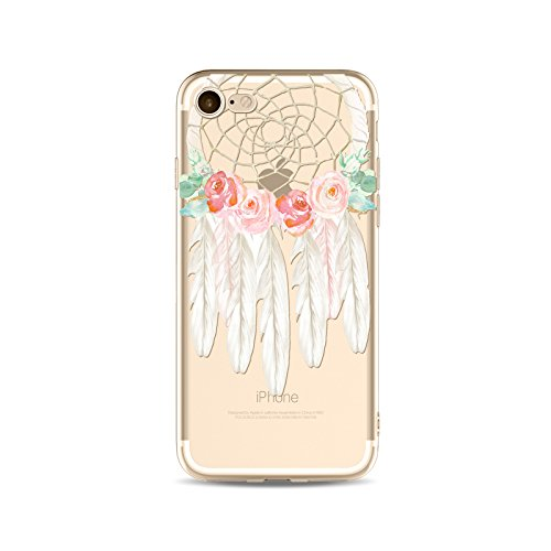 Coque iPhone 7 Housse étui-Case Transparent Liquid Crystal capture de rêve en TPU Silicone Clair,Protection Ultra Mince Premium,Coque Prime pour iPhone 7 (2016)-style 4 style 4