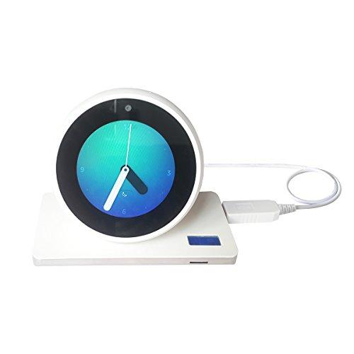 Cable USB Meres para Amazon Echo Spot/Echo Dot 3 Generation, USB 5V a DC Cable de alimentación de 12 V para Amazon Echo Spot, Hace Que el Echo Spot Portable (Blanco Solo para Echo Spot)