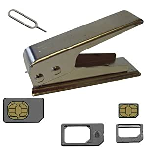 Nano Sim Card Cutter With 2 Adapters For Micro iPhone 4, 4S, iPad & iPad 2
