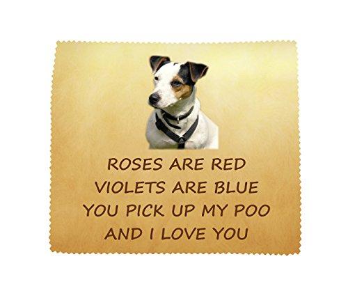 Jack Russell Terrier 'I Love You' Mikrofasertuch Fun Neuheit Geschenk von der Hund (Cd Lense Cleaner)