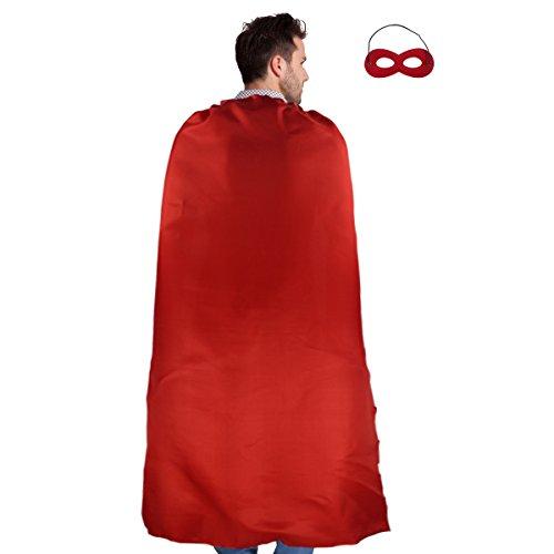 Erwachsene Umhang Superhero Cape und Maske Kostüm Kostüme für Männer Frauen Verkleiden Party (Kostüm Für Erwachsene Superhelden)