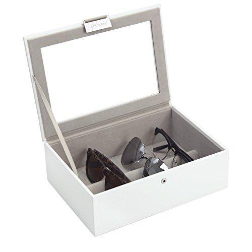 Stackers Schmuckkästchen 'CLASSIC SIZE' Sonnenbrille & Eyewear Stacker mit Deckel, weiß, 25 x 18 x 9.5 CM