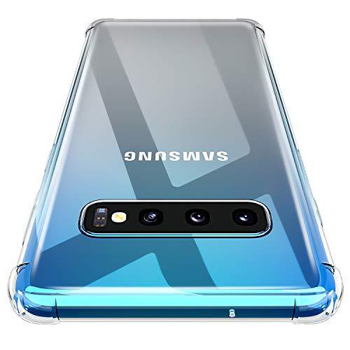 AINOYA Custodia per Galaxy S10, Morbido TPU Cover Cristallo limpido Trasparente Slim Anti Scivolo Protezione Case Samsung Galaxy S10.