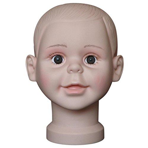 Dummy Modell Köpfe, Transer® Mannequin Styropor für Head Modelle Kopf Mannequin Schraubenmännchen Kindes Modell Perücke Hat für Werkzeug Show Ständer (Band Hats Kopf)