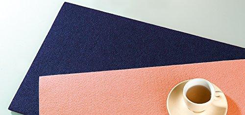 Filzuntersetzer Tischset Platzset rechteckig 45 x 30 cm Filz Untersetzer 4er Set kobalt blau Gilde