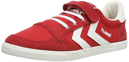 Hummel  Canvas, Sneakers Basses mixte enfant Red (Red/White)