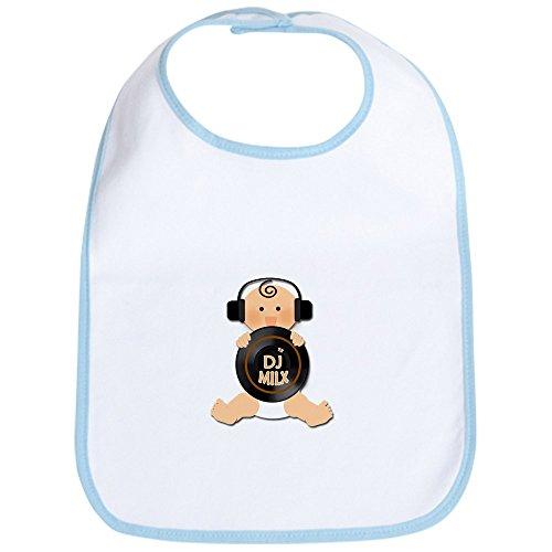 CafePress Baby DJ mit Kopfhörer Lätzchen–Standard Petal Pink [Apparel] GI..., Blau (Gi-lätzchen)