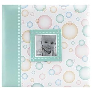MBI Plastic Baby Post Bound Album with Window 12-Inch x 12-Inch-Bubbles