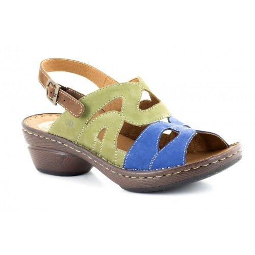 Josef Seibel Jinnybob da donna Casual in pelle sandali Blue/Green