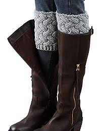 LADES DIRERCT Damen Stulpen Socken - Winter Kurze Stricken Stulpen Gestrickte Beinwärmer Leg Warmers Socken Stiefel Boot Abdeckung