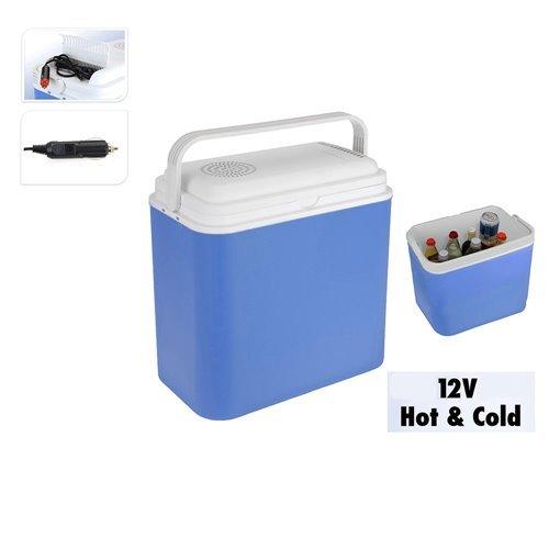 Tragbare Elektrische Kühlbox 12V , 22 L für Auto und Steckdose - Blau, 30x23x40 cm