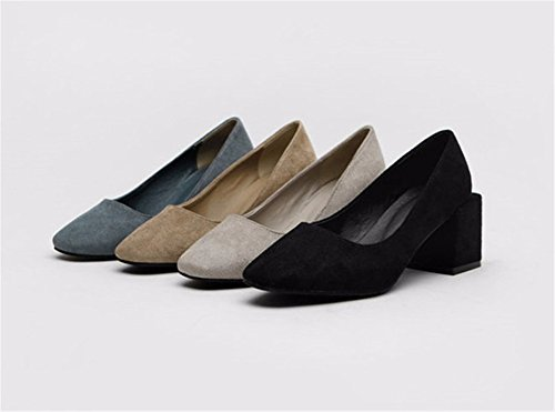 moda In dimensioni A 33 FLYRCX 40 alto Europa autunno donna tacco europeo stile semplice inverno tacco tacco scarpe fFwd4Iwx