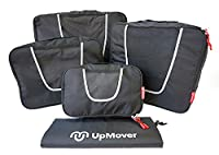 UpMover 5pc Packing Cube Travel Set and Laundry Bag (black)