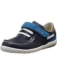 Clarks Softly Flag Fst - Zapatos de Cordones de cuero niño