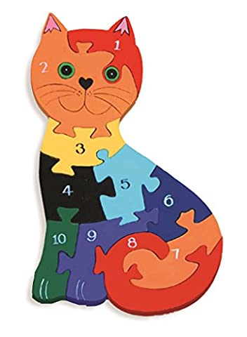 Cat 1-10 Number Jigsaw Puzzle - Chunky, Bright & Educational