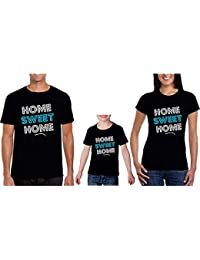 936cd3b51 Sprinklecart Home Sweet Home Family T Shirt | Matching T Shirt for Father  Mother and Kid
