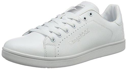 Kangaroos Leder-sneaker (KangaROOS Herren K-Class-x FG Sneakers, Weiß (White), 44 EU)