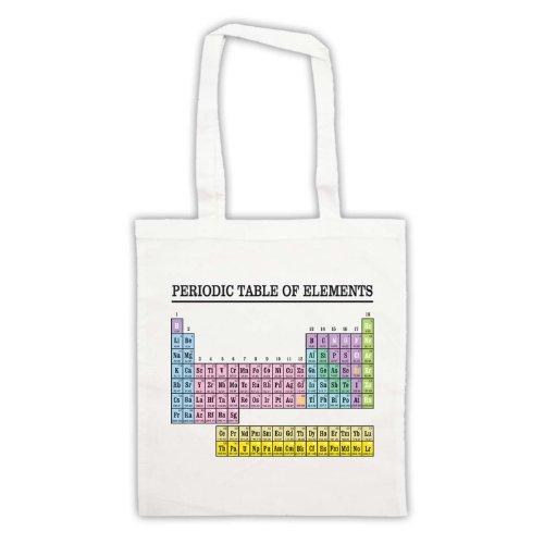 La tavola periodica degli elementi Geek-Borsa Bianco